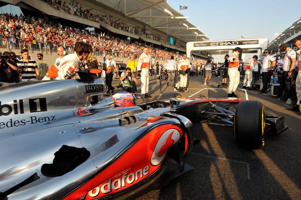 Main grandstand at Abu Dhabi Grand Prix