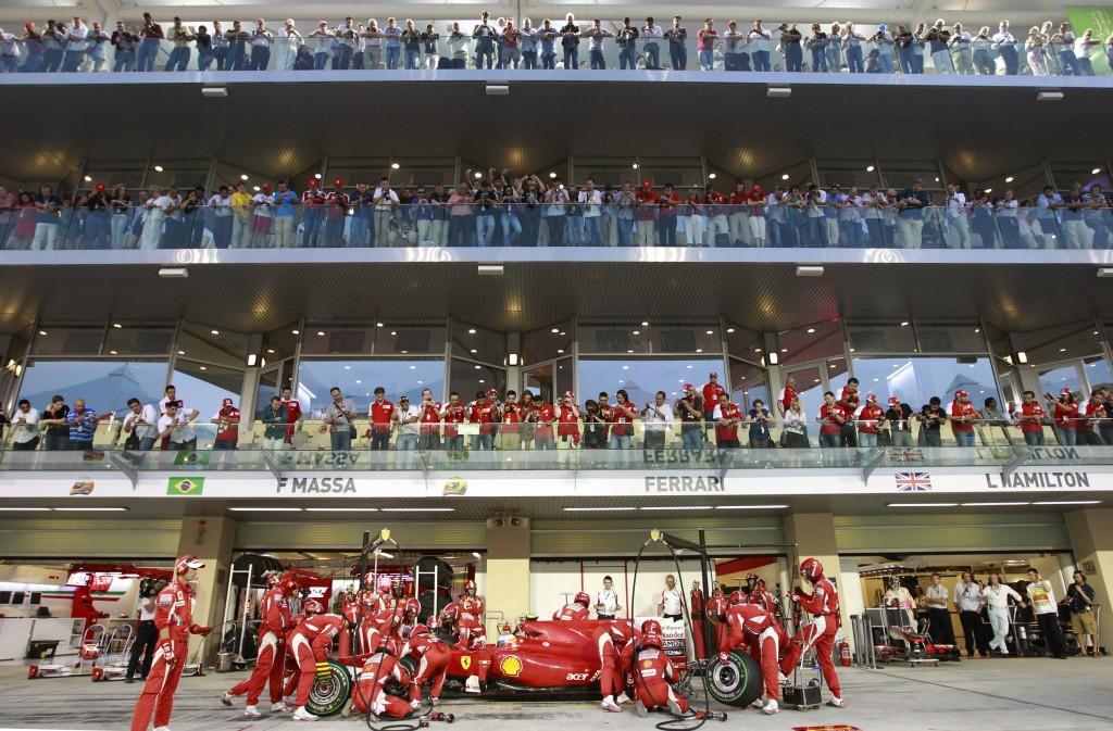 Paddock club at the Abu Dhabi Grand Prix