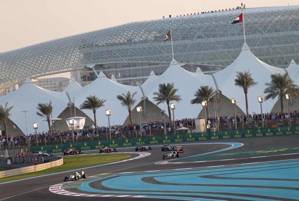 Yas Marina circuit at the Abu Dhabi Grand Prix