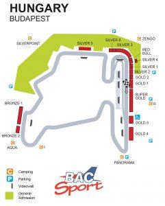 Hungarian GP Circuit Map