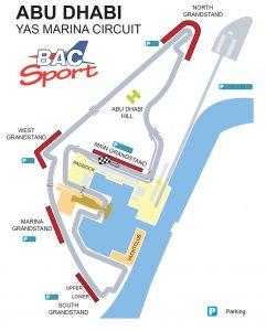 Abu Dhabi GP Circuit Map