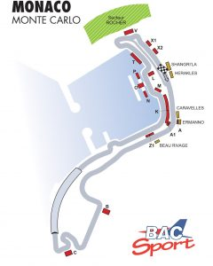 Monaco GP Circuit Map